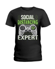 Social distancing expert  Ladies T-Shirt thumbnail