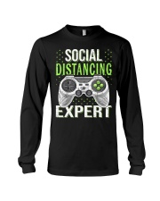 Social distancing expert  Long Sleeve Tee tile