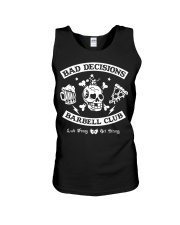 Bad decisions barbell club shirt Unisex Tank tile