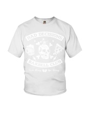 Bad decisions barbell club shirt Youth T-Shirt thumbnail