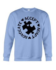 Accept Adapt Advocate Crewneck Sweatshirt thumbnail