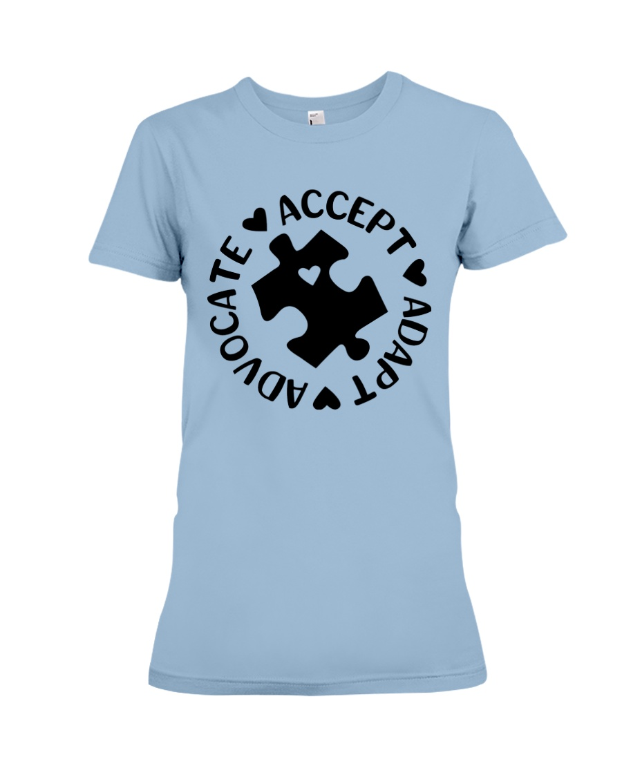 Accept Adapt Advocate Premium Fit Ladies Tee