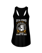 Social Worker Has 3 Sides Ladies Flowy Tank thumbnail