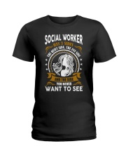Social Worker Has 3 Sides Ladies T-Shirt front