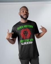 Black History Didn't start with Slavery Classic T-Shirt apparel-classic-tshirt-lifestyle-front-32