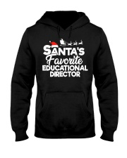 Santa's favorite Educational Director Hooded Sweatshirt front