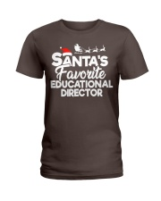 Santa's favorite Educational Director Ladies T-Shirt thumbnail