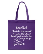 Dear aunt lovely nephew and niece Tote Bag thumbnail