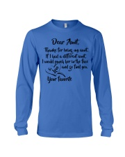 Dear aunt lovely nephew and niece Long Sleeve Tee thumbnail