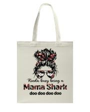 mama shark Tote Bag tile