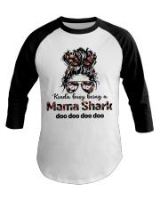 mama shark Baseball Tee tile