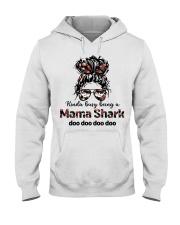 mama shark Hooded Sweatshirt tile