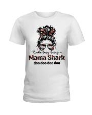 mama shark Ladies T-Shirt tile