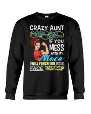 Crazy beauty and grace aunt with niece Crewneck Sweatshirt thumbnail