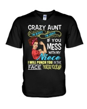 Crazy beauty and grace aunt with niece V-Neck T-Shirt thumbnail