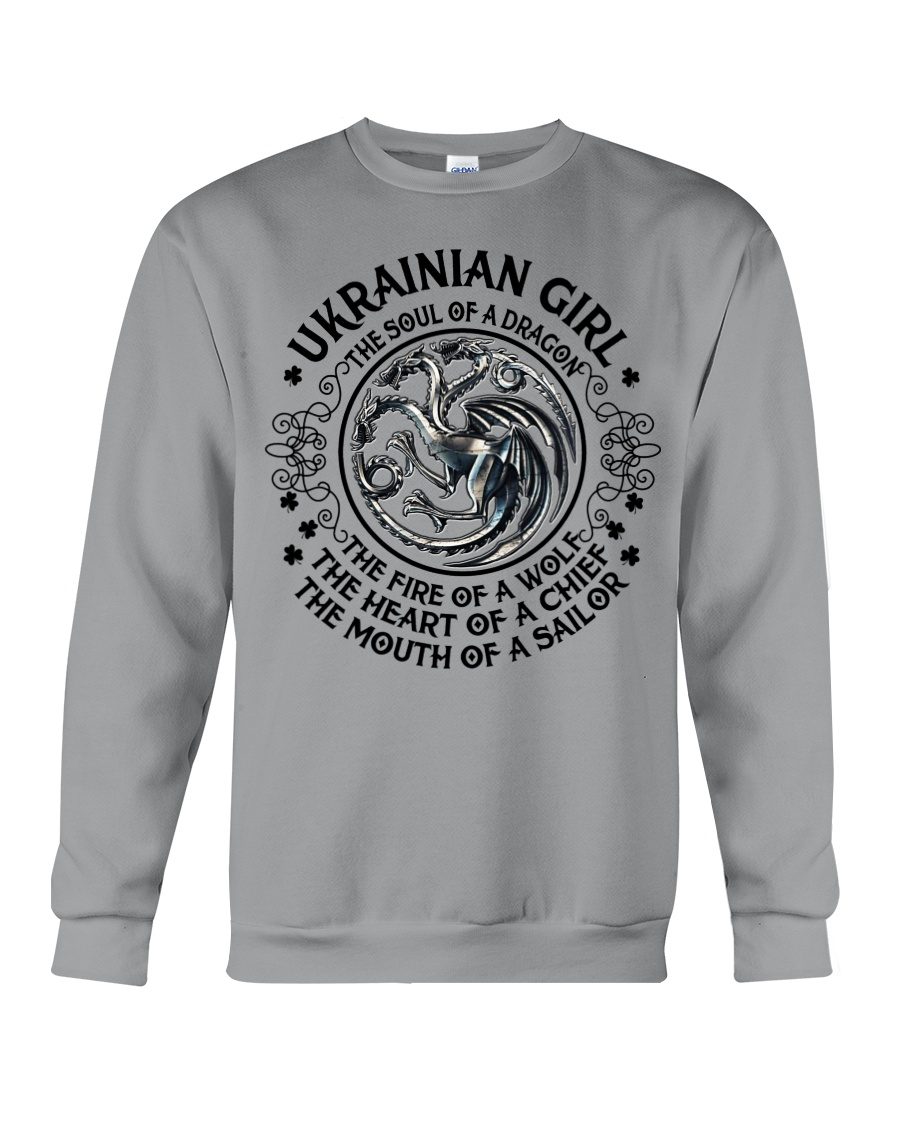 Ukrainian Dragon Crewneck Sweatshirt