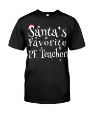 Santa's favorite PE Teacher Classic T-Shirt thumbnail