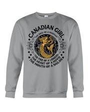 Canadian mermaid girl Crewneck Sweatshirt front