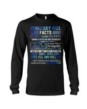 February Girl Facts Long Sleeve Tee thumbnail