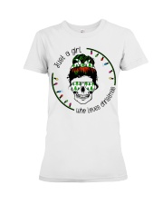 Just a girl who loves Christmas Premium Fit Ladies Tee thumbnail