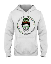 Just a girl who loves Christmas Hooded Sweatshirt thumbnail