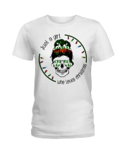 Just a girl who loves Christmas Ladies T-Shirt front