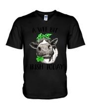 A wee bit Irish today - Heifer V-Neck T-Shirt thumbnail