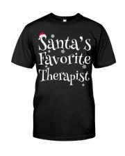 Santa's favorite Therapist Classic T-Shirt thumbnail