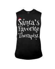 Santa's favorite Therapist Sleeveless Tee thumbnail