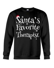 Santa's favorite Therapist Crewneck Sweatshirt thumbnail