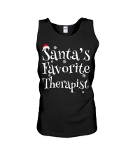Santa's favorite Therapist Unisex Tank thumbnail
