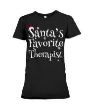 Santa's favorite Therapist Premium Fit Ladies Tee thumbnail