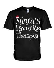 Santa's favorite Therapist V-Neck T-Shirt thumbnail
