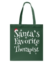 Santa's favorite Therapist Tote Bag thumbnail
