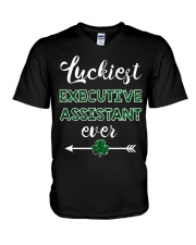 Luckiest Executive Assistant Ever V-Neck T-Shirt thumbnail