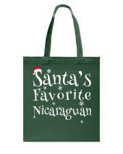 Santa's favorite Nicaraguan Tote Bag thumbnail