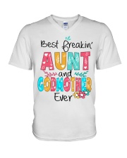 Best freakin' Aunt and Godmother ever V-Neck T-Shirt thumbnail