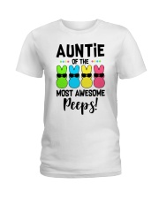 Auntie of the most awesome peeps Ladies T-Shirt front