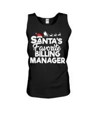 Santa's favorite Billing Manager Unisex Tank thumbnail