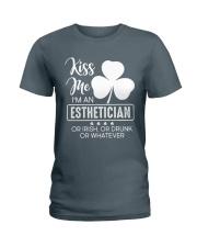 Kiss Me - Irish Esthetician Ladies T-Shirt tile