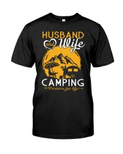 Husband wife camping partner for life Classic T-Shirt front