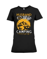 Husband wife camping partner for life Premium Fit Ladies Tee thumbnail