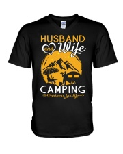 Husband wife camping partner for life V-Neck T-Shirt thumbnail