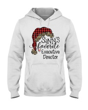 Santa's favorite Executive Director Hooded Sweatshirt front