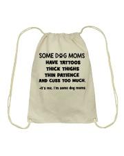 Tattooed dog moms puppy lovers Drawstring Bag thumbnail