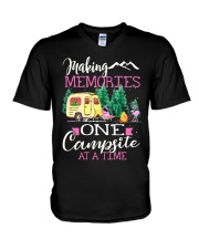 Camping memories one campsite at a time V-Neck T-Shirt thumbnail