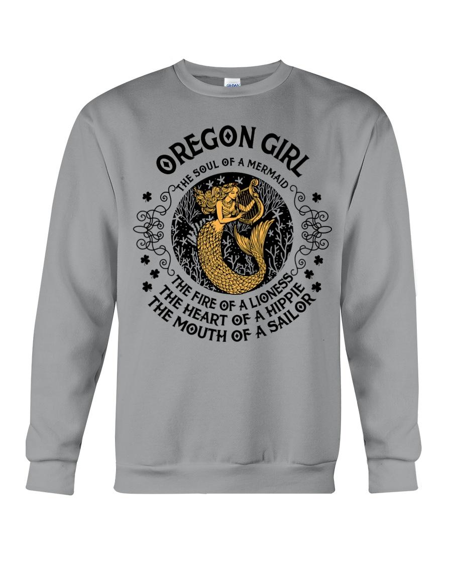 Oregon Mermaid Girl Crewneck Sweatshirt