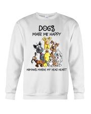 Dogs make me happy Crewneck Sweatshirt tile