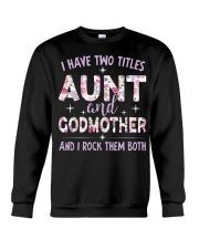 Rockin' Aunt and Godmother Crewneck Sweatshirt tile