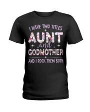 Rockin' Aunt and Godmother Ladies T-Shirt front